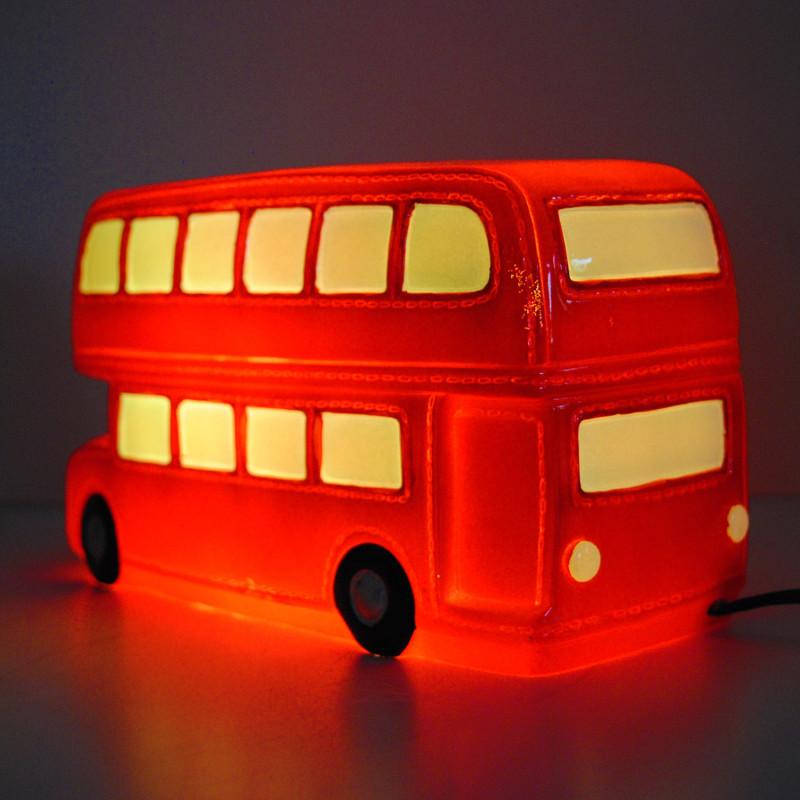 Lampe veilleuse en forme de bus pour d co anglaise sur rapid cadeau - Veilleuse pour salon ...