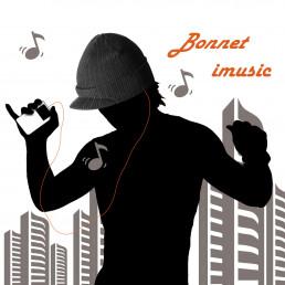 Bonnet iMusic à Visière Filaire