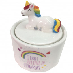 Petite Boîte à Bijoux Licorne - I Don't Believe in Humans