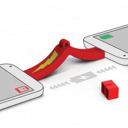 Porte-Clés Chargeur Téléphone à Téléphone