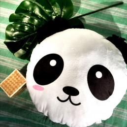 Coussin Peluche Panda