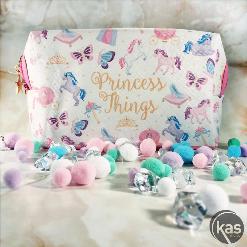meilleur service 8a4cb 35348 Trousse de toilette girly en tissu avec motifs princesse et ...