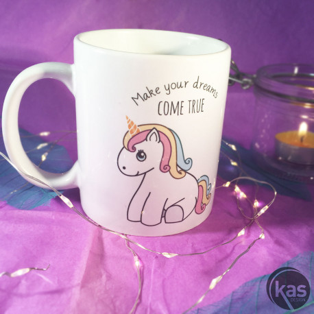 Mug Licorne - Make Your Dreams Come True