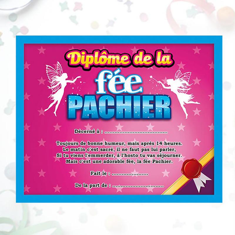 Bekannt Diplôme humoristique encadré de la fée Pachier pour femme sur  QZ58