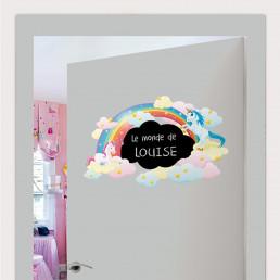 Sticker Ardoise Licornes