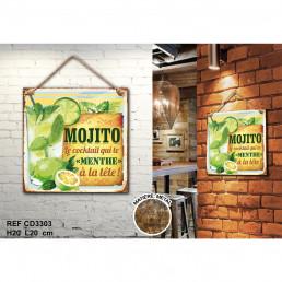 Plaque Métallique Mojito