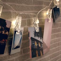 Guirlande Pinces Porte-Photos Lumineuses