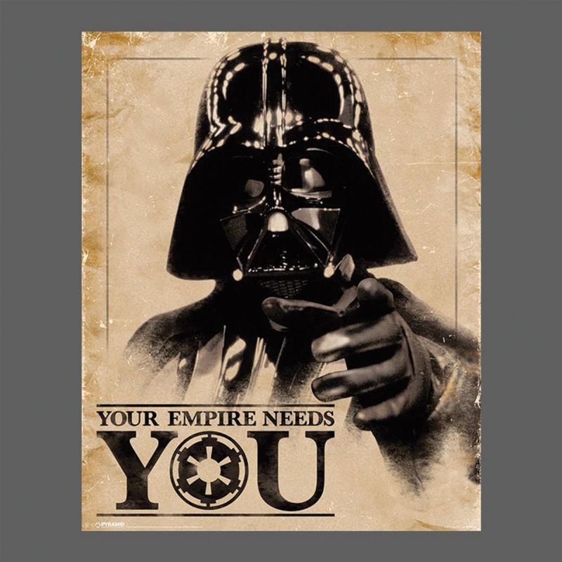 affiche star wars dark vador your empire needs you 50 x. Black Bedroom Furniture Sets. Home Design Ideas