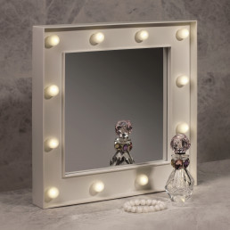 Miroir Hollywood - 12 leds