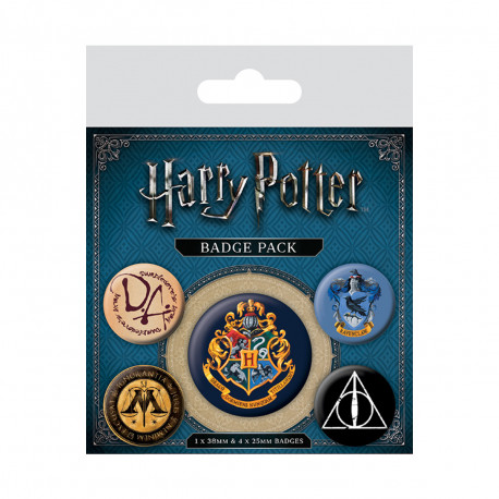 Pack de 5 Badges Harry Potter Poudlard