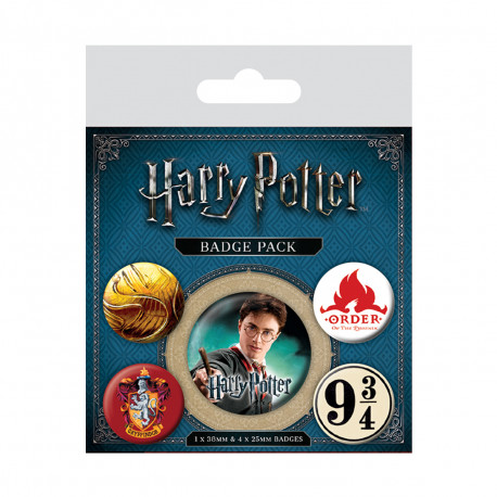 Pack de 5 Badges Harry Potter Gryffondor
