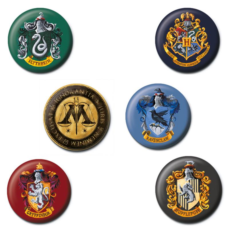 Badge Harry Potter Bouton à Leffigie Des Maisons Poudlard Sur Rapid