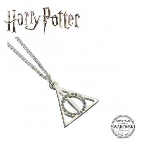 Collier Harry Potter Argent Et Cristaux Swarovski - Les Reliques De La Mort