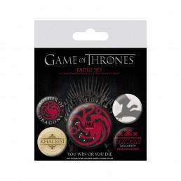 Pack de 5 Badges Game of Thrones
