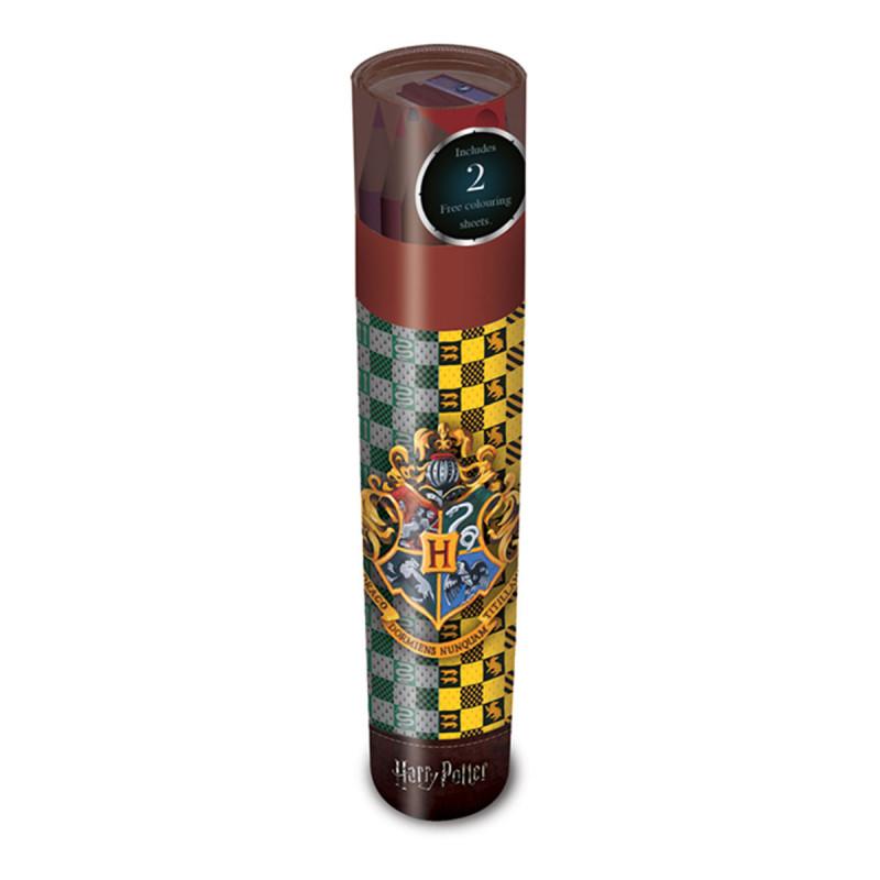 Coffret Crayons De Couleur Harry Potter Sous Licence Officielle