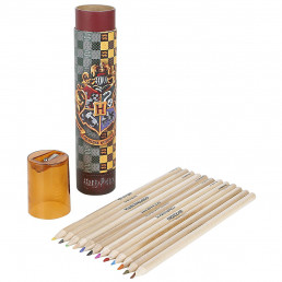 Tube de Crayons de Couleur Harry Potter Poudlard