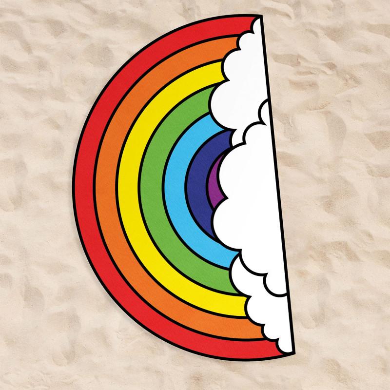 serviette arc en ciel xxl femme 180 cm pour la plage sur rapid cadeau. Black Bedroom Furniture Sets. Home Design Ideas
