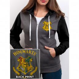 Veste Femme Harry Potter Poudlard Gris & Noir