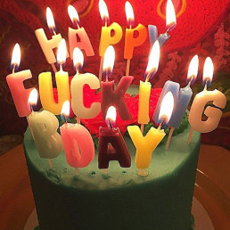 Bougies Happy Fucking Birthday