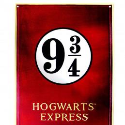 Grande Plaque Métallique Harry Potter Voie Express 9 3/4 Relief
