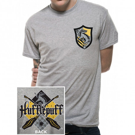 T-Shirt Harry Potter Poufsouffle Gris Chiné