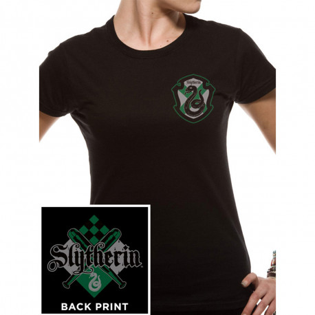 T-Shirt Femme Harry Potter Serpentard Manches Courtes