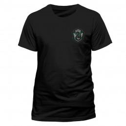 T-Shirt Harry Potter Serpentard Noir Manches Courtes