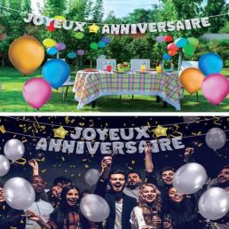 Guirlande de Ballons Géante Joyeux Anniversaire
