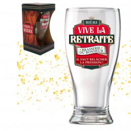 Verre à Bière Vive la Retraite