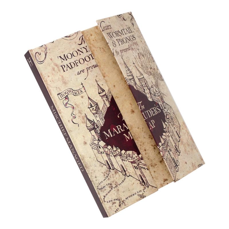 Du Harry A5 L'effigie La Potter Carte Maraudeur Sur De Cahier À ZiuPkX