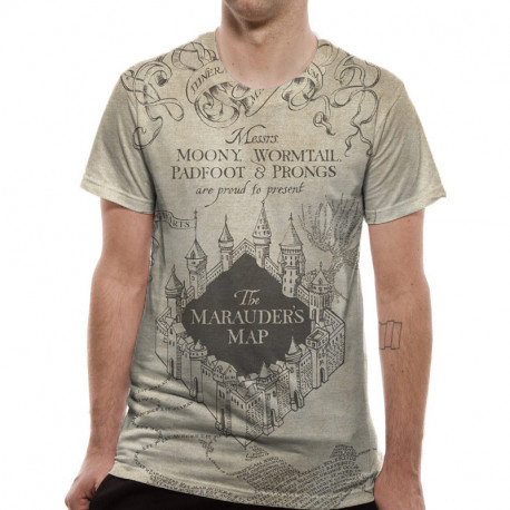 T-Shirt Harry Potter Deluxe Carte du Maraudeur