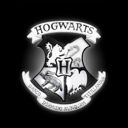 Lampe d'Ambiance Harry Potter Blason Poudlard Noire et Blanche