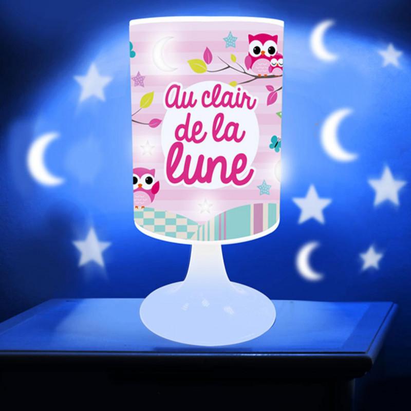 Lune La De Lampe Au Clair Chevet Projection wXiTkOPZul