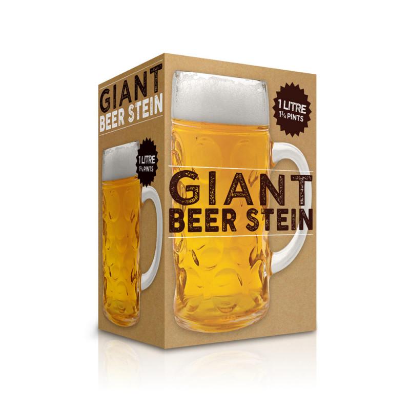 chope bière géante en verre : achat cadeau bière sur rapid-cadeau