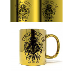 Mug Harry Potter Doré Métallique Banque Gringotts