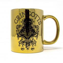 Mug Harry Potter Doré Métallique Banque Gringotts