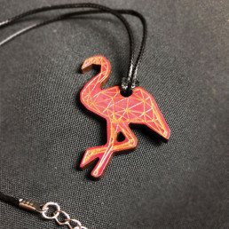 Collier Flamant Rose