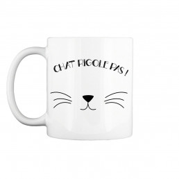 Mug Moustaches de Chat Personnalisable