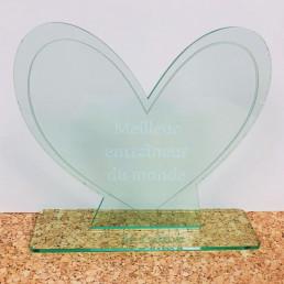 Trophée Cœur Personnalisable