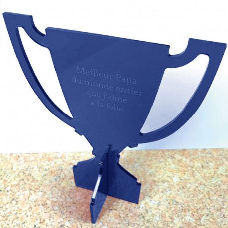 Trophée Coupe de Champion Rouge Personnalisable