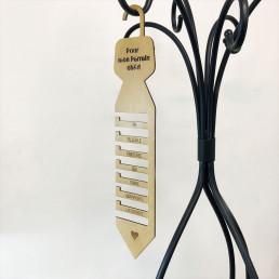 Porte-Cravates Personnalisable en Bois