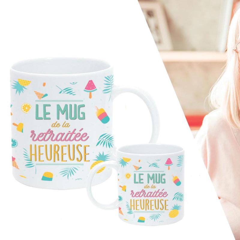 Mug Retraitée Heureuse Pour Faire Un Cadeau Retraite