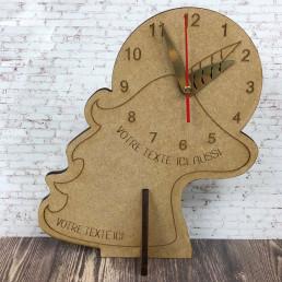 Horloge Licorne Personnalisable en Bois