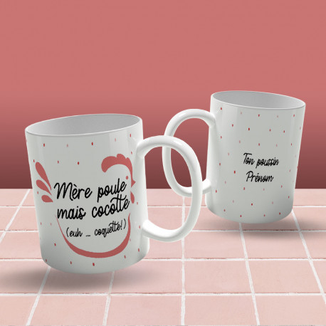 Mug Mère Poule Cocotte à Personnaliser