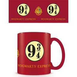 Mug Rouge Harry Potter Poudlard Voie Express 9 3/4