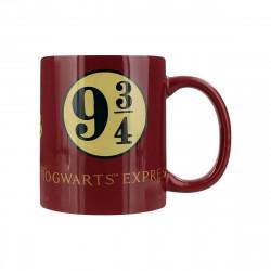 Mug Rouge Harry Potter Poudlard Voie Express 9 3/4