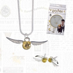 Pack Harry Potter Vif d'Or - Collier et Boucles d'Oreilles