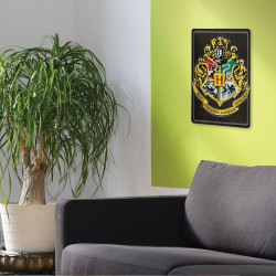 Plaque Métallique 3D Harry Potter - Blason Poudlard