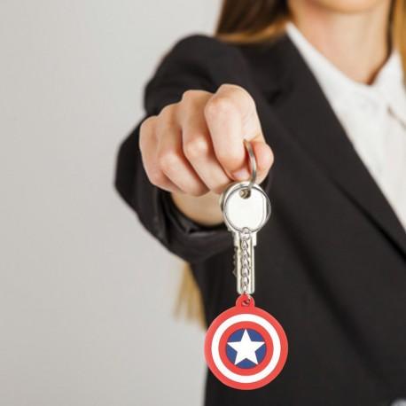 Porte-Clés Logo Captain America Marvel