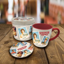 Boîte Cadeau Stranger Things avec Mug et Sous-Verre